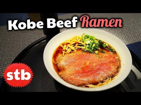 JAPANESE FOOD Tour: Kobe Beef Ramen in Tokyo, Japan