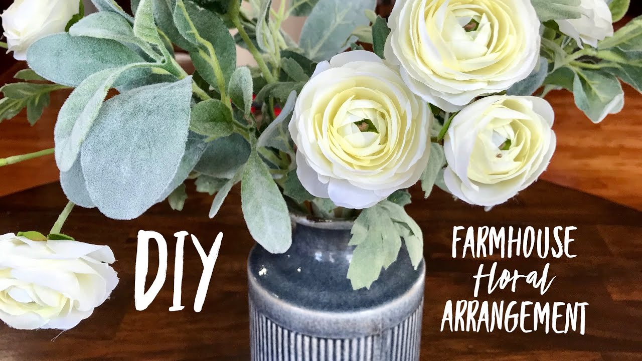 Farmhouse Floral Arrangement Hobby Lobby Diy Youtube