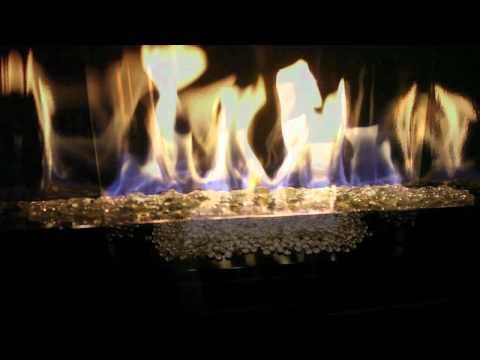 Mendota FullView Gas Fireplace Fire Base Media Options
