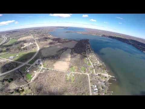 Flight Over Chautauqua Lake, NY.   May 1, 2015