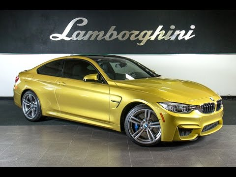 2015 BMW M4 Austin Yellow Metallic L0691 - YouTube