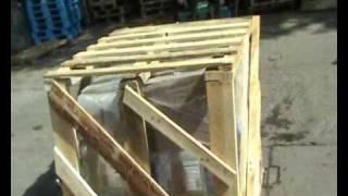 Обрешетка груза на паллете(Обрешетка -- груз укрепляется конструкцией из бруса и досок, которая обеспечивает жесткость и защищает..., 2010-07-28T10:50:17.000Z)