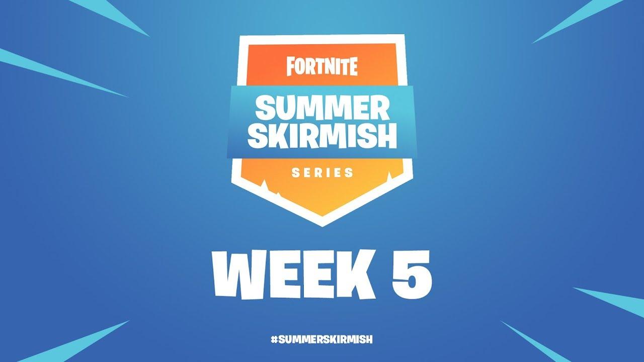 Fortnite Summer Skirmish Series Week 5 Day 1 Youtube