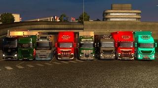 Mini Convoy | Cruzando la ruta del baneo! Atascadero masivo Calais - Duisburg