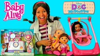 Doc McStuffins Doctor's Bag Set with Baby Alive ! || Disney Toy Review || Konas2002