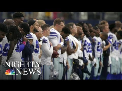 NFL Commissioner: 'Everyone Should Stand For National Anthem' | NBC Nightly News