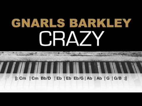 Gnarls Barkley - Crazy Karaoke Chords Instrumental Acoustic Piano Cover Lyrics