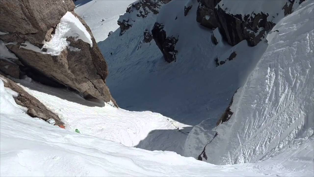 Falling Down Corbet S Couloir Jackson Hole Wy Youtube