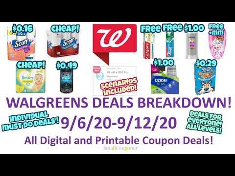 Walgreens Deals Breakdown 9/6/20-9/12/20! All Digital and Printable Coupon Deals!