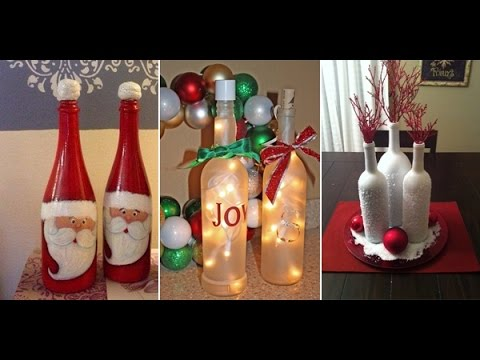 Christmas Wine Bottle Decor Crafts With Empty Wine Bottles YouTube Enchanting Empty Wine Bottle Christmas Decorations
