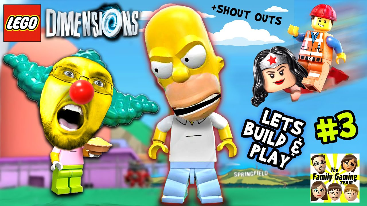 Lets Build Play Lego Dimensions 3 Monster Homer In Springfield