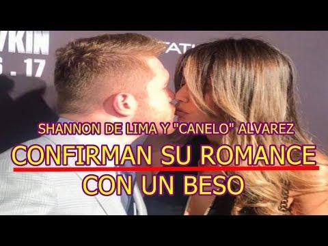 SHANNON DE LIMA y CANELO ALVAREZ confirma su ROMANCE con un BESO