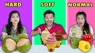Hard VS Soft VS Normal Food Eating Challenge | Hungry Birds