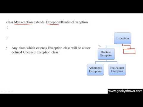 210. Custom Exceptions are Checked or Unchecked Exception in Java Programming (Hindi)