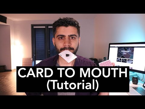 CARD TO MOUTH Magic Trick - TUTORIAL