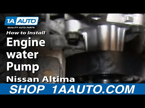 How To Install Replace Engine water Pump 2002-06 2.5L Nissan Altima