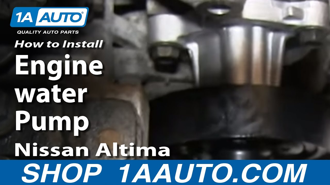 how to install replace engine water pump 2002 06 2 5l nissan altima 2005 dodge sprinter engine diagram how to install replace engine water pump 2002 06 2 5l nissan altima youtube