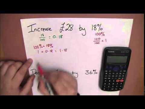 Using Calculator For Increasing And Decreasing By Percentage
