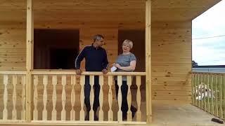 видео Д-59 Дом из бруса 10,6x9,6 м