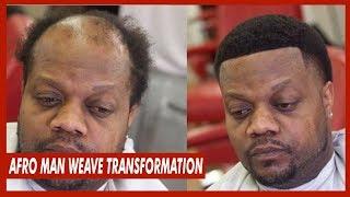 Man Weave Afro Taper Transformation | FULL UNIT INSTALL
