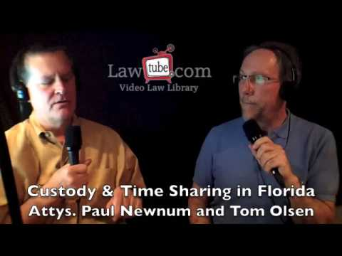 Custody, time sharing and parenting plans in Florida.