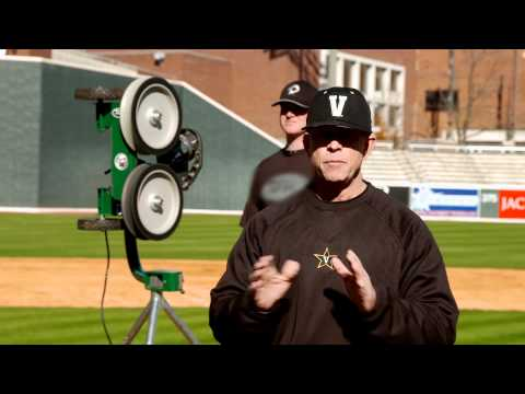 Catching Drills: Vanderbilt Baseball coach Tim Corbin uses ATEC Machines