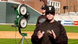 Catching Drills: Vanderbilt Baseball coach Tim Corbin uses ATEC Machines