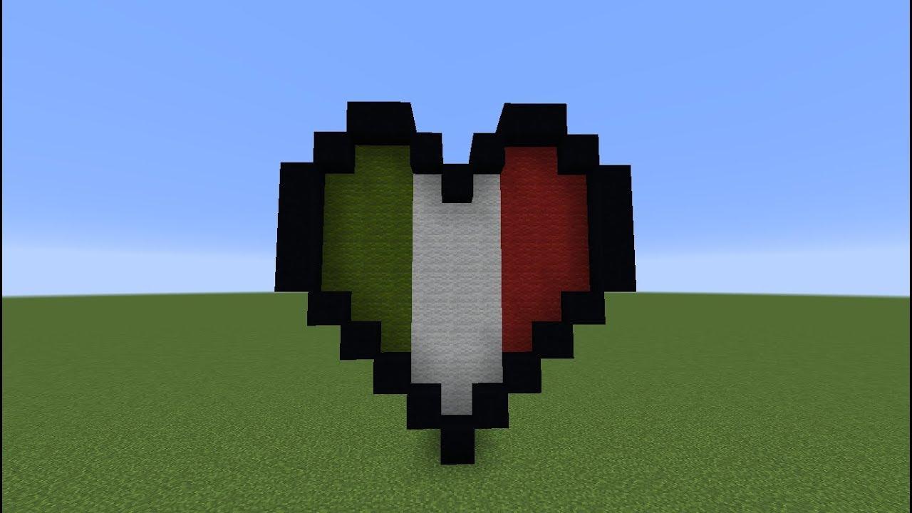 TUTO Minecraft Pixel Art : Coeur Italien - YouTube