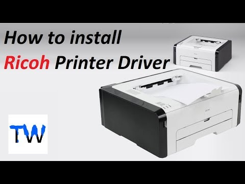 Ricoh SP 210 Printer Driver Download and Install || Teach World ||