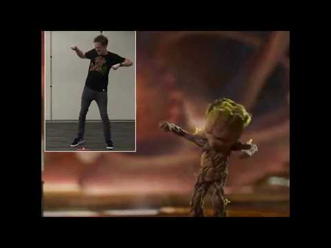 James Gunn's motion reference work for Baby Groot