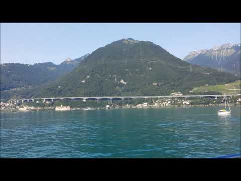 Views of the Lake Geneva Montreux,Switzerland From A Cruise