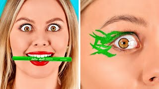 COMO REUTILIZAR A MAQUIAGEM || Maneiras divertidas de recuperar e reutilizar maquiagem por 123 GO!