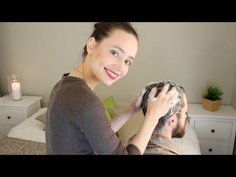 ASMR Whisper Head Massage   Scalp Check   Hair Treatment