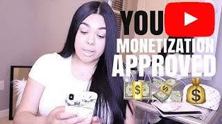 HOW TO MONETIZE YOUR YOUTUBE VIDEOS | MONETIZATION APPROVED | HOW TO PLACE ADS ON YOUR VIDEOS♥️