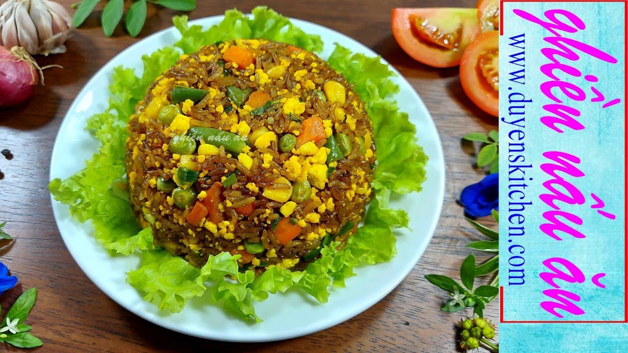 Làm Cơm Chiên Xì Dầu Thơm Nức Mũi | Món Ăn Chay By Duyen's Kitchen | Ghiền nấu ăn