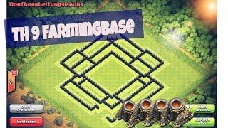 Clash of Clans: Speedbuild #2 - Rathaus 9 Pokal Farmbase mit 4 Minenwerfern[Deutsch/German] (HD/HQ)