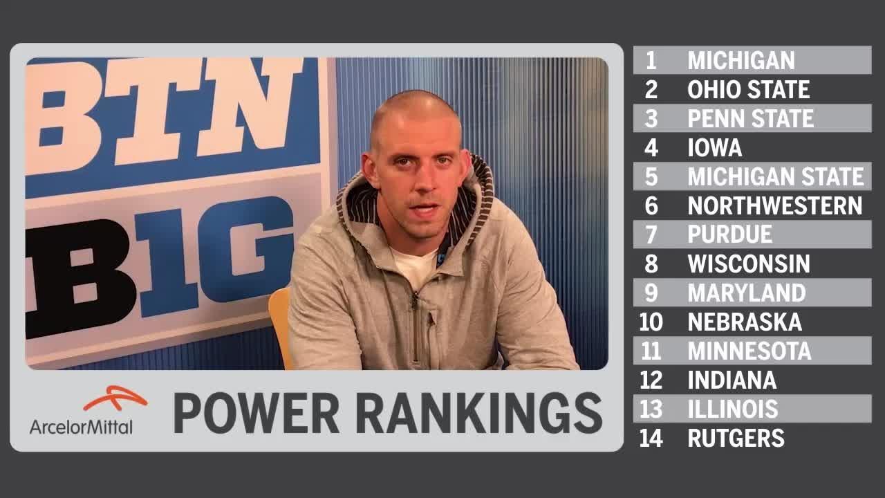 B1G Power Rankings - Post-Week 9 | James Laurinaitis |Big Ten Football