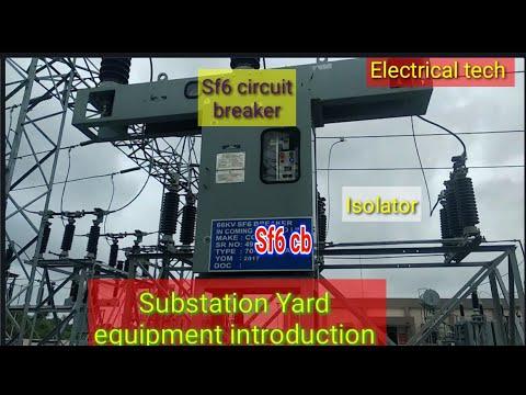 66/11 KV SUBSTATION YARD EQUIPMENT SF6 CIRCUIT BREAKER, LIGHTNING ARRESTOR, ISOLATOR INTRODUCTION