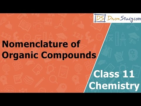 Nomenclature of Organic Compounds | Class 11 XI Chemistry | CBSE | IIT-JEE | AIPMT