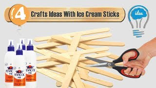 4 Ice cream sticks crafts idea | Ice cream stick decoration ideas | DIY decorative things