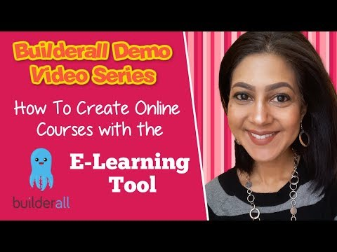 Builderall Demo Video Series: How To Create Online Courses with the E-Learning Tool