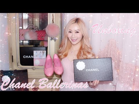 CHANEL BALLERINA FLATS 🎀 PINK 2017 - CHIT CHAT UNBOXING, FIRST IMPRESSION & REVIEW 💖