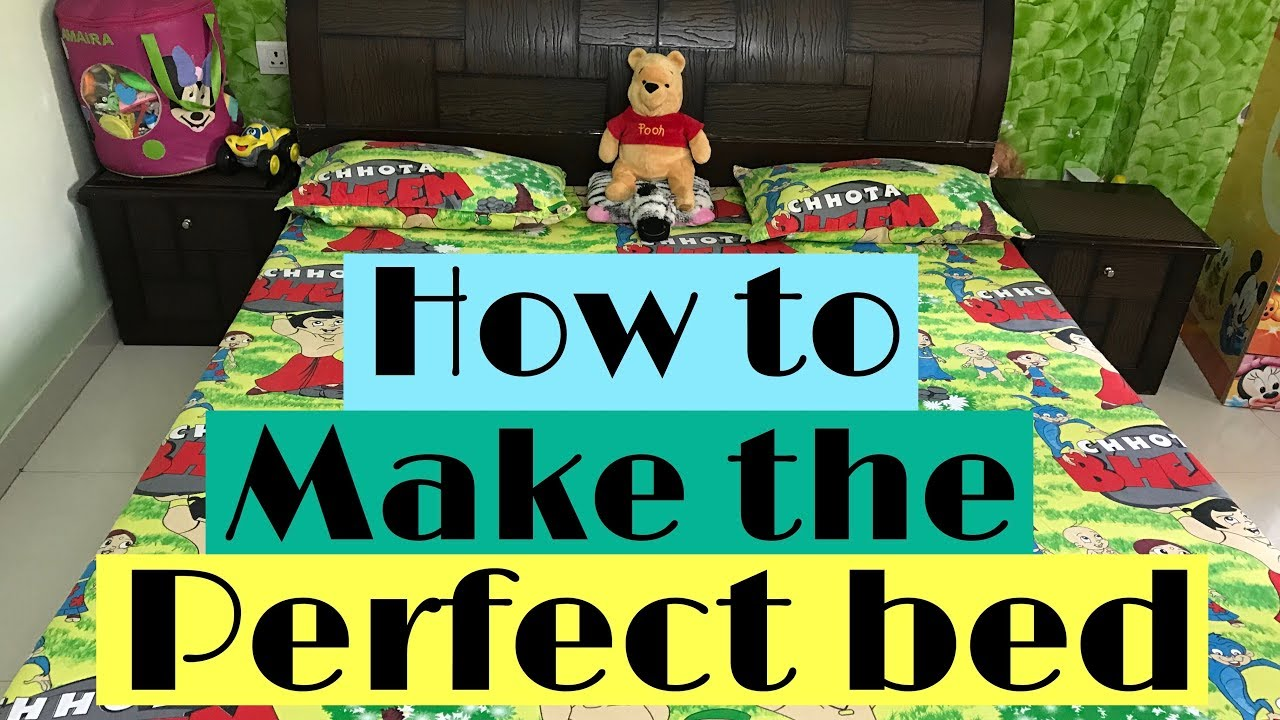 6285ca2154 HOW TO MAKE THE PERFECT BED | HOW TO PUT BEDSHEET ON | Mommy and Baby Bug