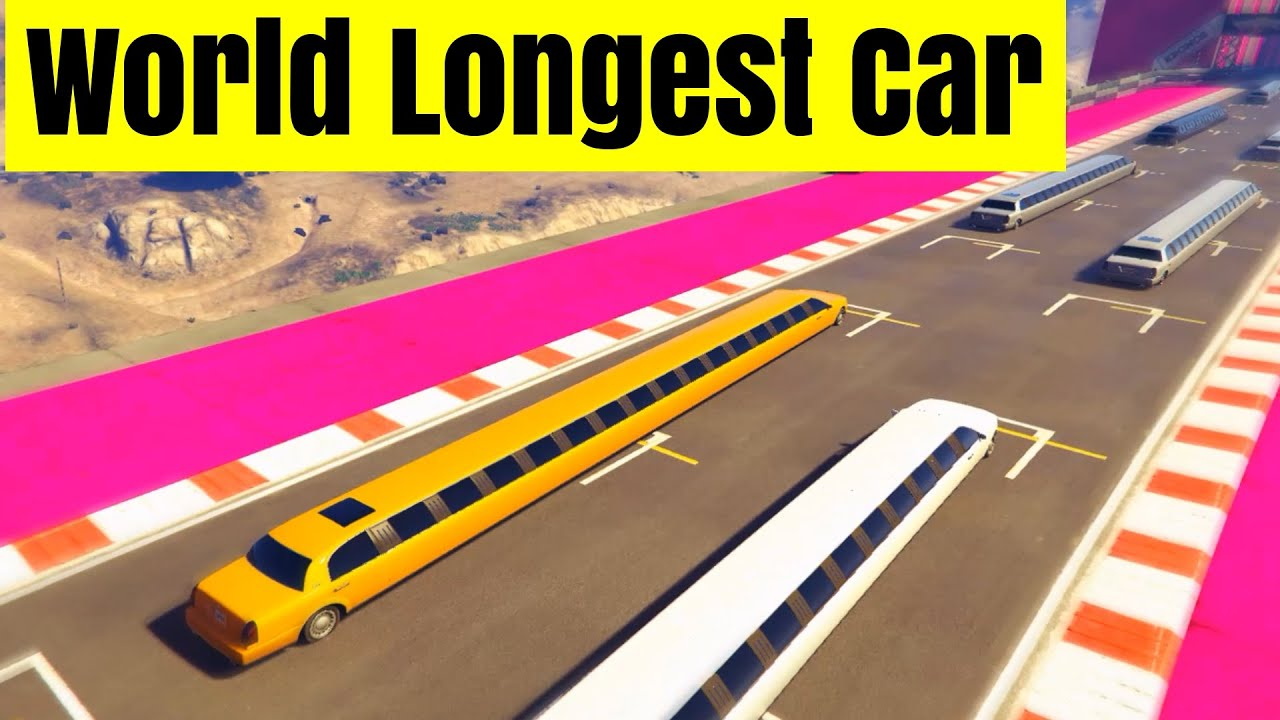 grand theft auto 5 cunning stunts with world longest car youtube. Black Bedroom Furniture Sets. Home Design Ideas