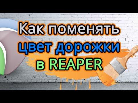 Как поменять цвет дорожки в Cockos Reaper 5.1 (создание коммерческой музыки)