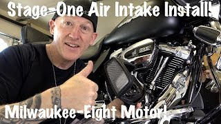 Harley Stage-One-Air-Intake Milwaukee-Eight Touring | How to Install-DIY