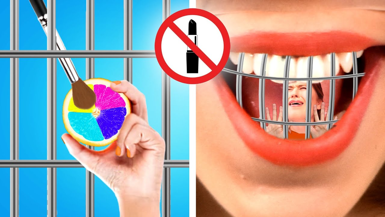 Weird Ways to SNEAK MAKEUP INTO JAIL || Awesome Makeup Sneaking Ideas by Crafty Panda How