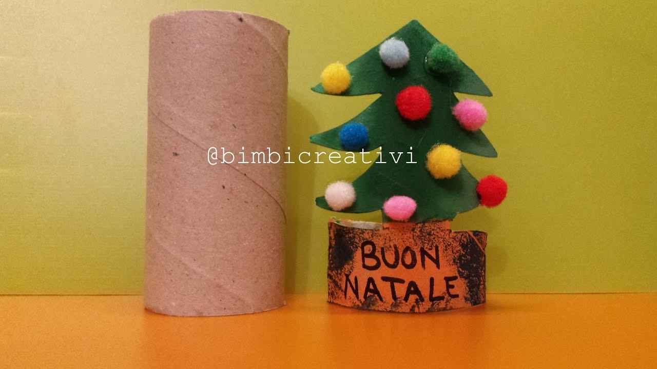 Lavoretti Di Natale Con La Carta Igienica.Albero Di Natale Con I Rotoli Di Carta Bimbi Creativi 41 Youtube