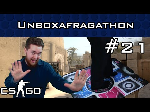 TheWarOwl plays CS:GO with a Dance Dance Revolution pad