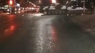Колонна техники Гродно, Беларусь.